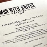 Men with Knives – September 15, 2014